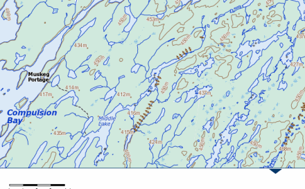 Free Canadian Topo map example