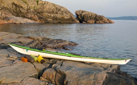 Kayak at Presque Isle in Marquette.