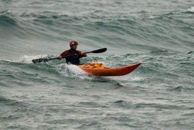 sea kayak surfing at 121 in Minnesota