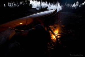 canoe camping in the fall