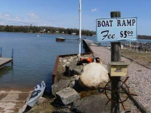 Neebish cut boat ramp