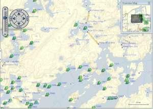 bwca campsites on map