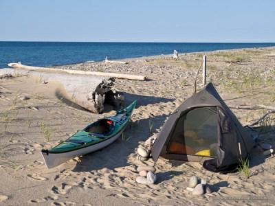 kayak campsite on the Shipwreck Coast