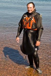 wearing a tuilik