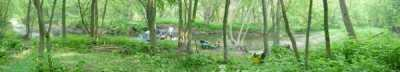 guerrilla camping on a river