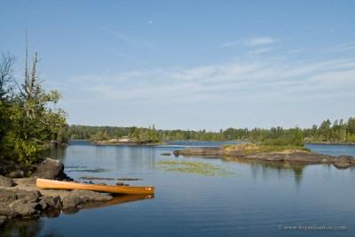 Canoe in BWCA