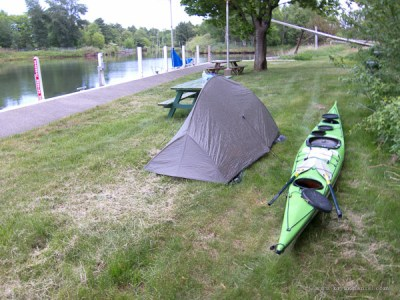 stealth camping in a marina