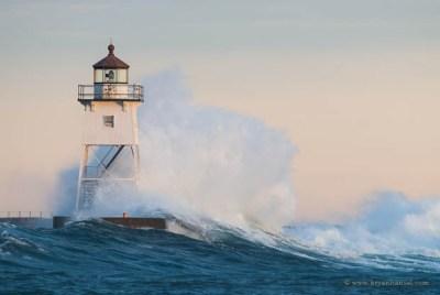 Grand Marais Lighthouse and Waves