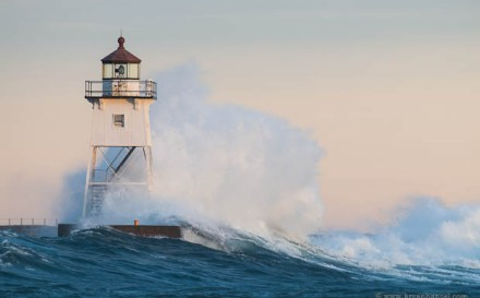 Grand Marais Lighthouse and Waves