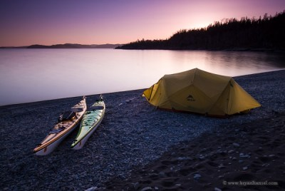 Kayak camping on Spar Island