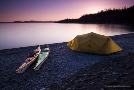 Kayak camping on Spar Island