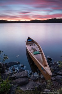 Kemo Lake Canoe Sunset