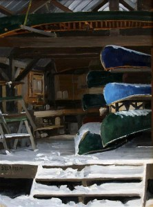 Winter Over at York Factory - Camp Menogyn by Neil Sherman