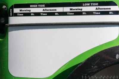 left side deck slate closeup