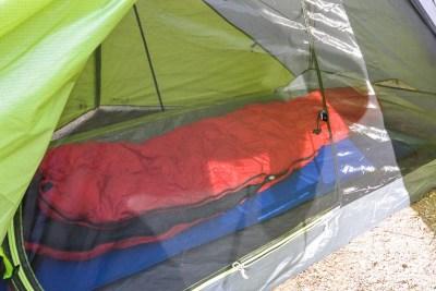 inside of TN2 tent