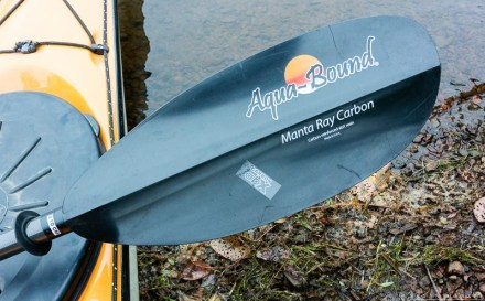 Manta Ray paddle on a kayak
