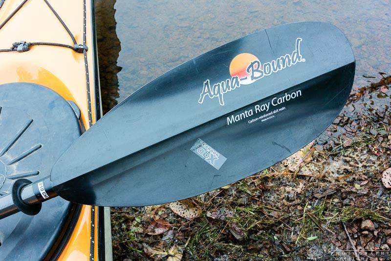 Manta Ray paddle on a kayak