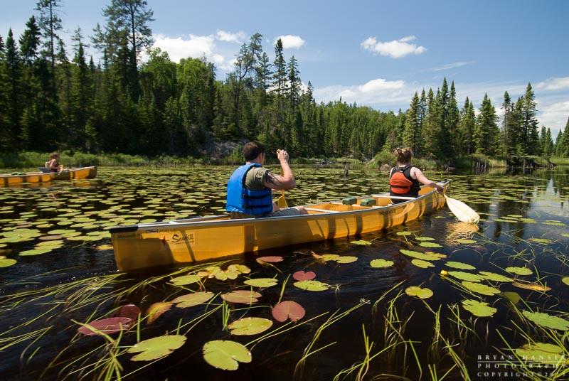 canoeist in the BWCA