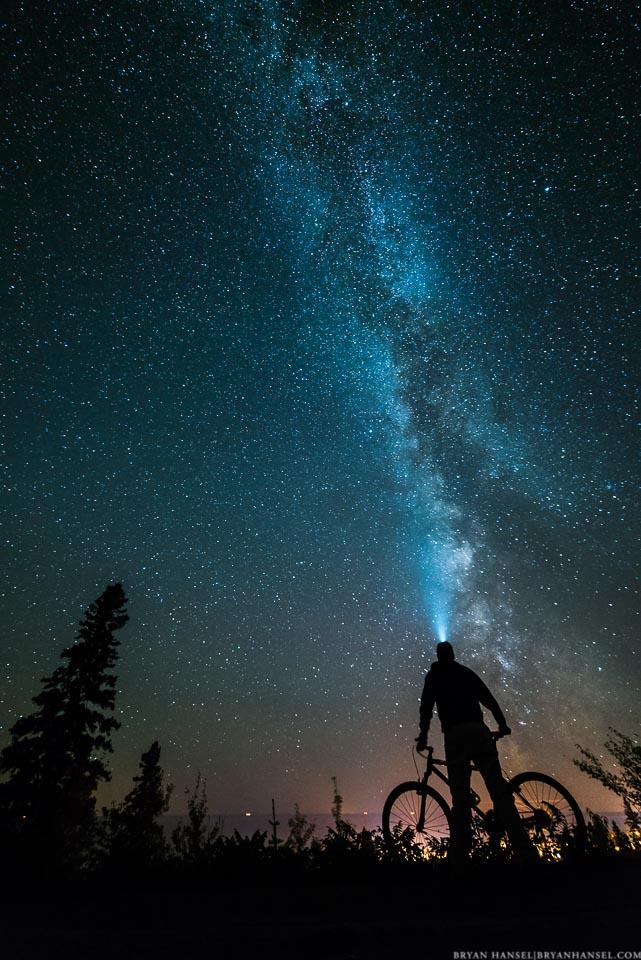 Biking and the Milky Way