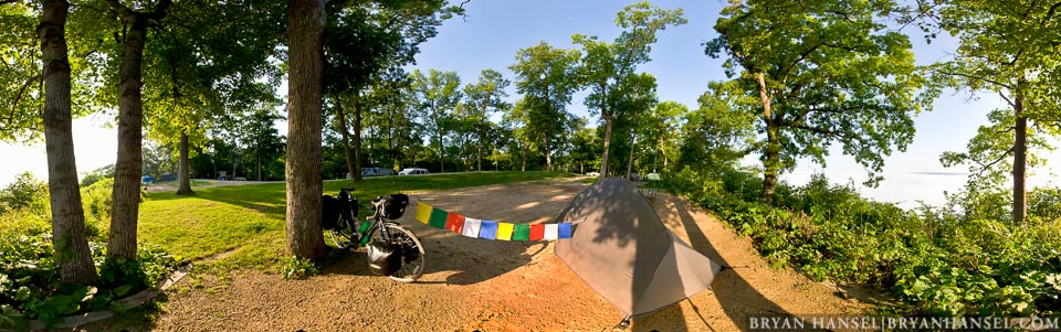 bike pano with prayer flags