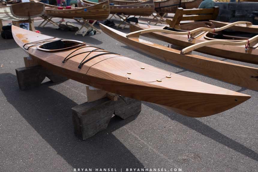 Plywood kayak, three piece
