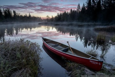 canoe in a national forest