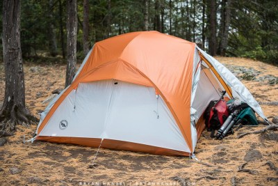 Big Agnes Copper Spur UL3 set up in the BWCA