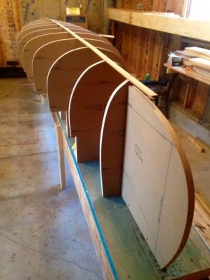 chestnut chum cedar strip being built