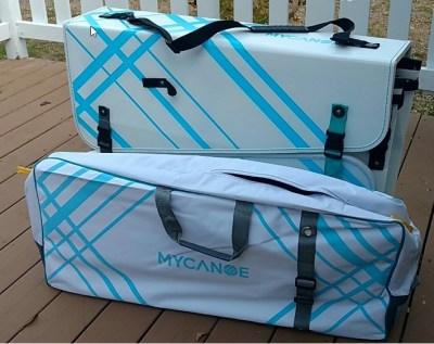 MyCanoe folded into the case