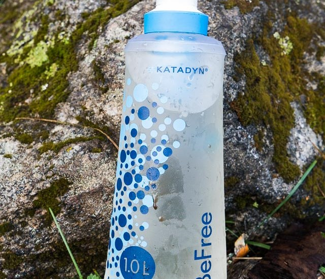 Katadyn BeFree water filter in action
