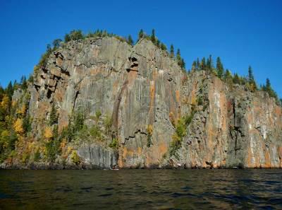 cliff on Lake Nipigon