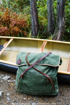 Duluth pack and canoe