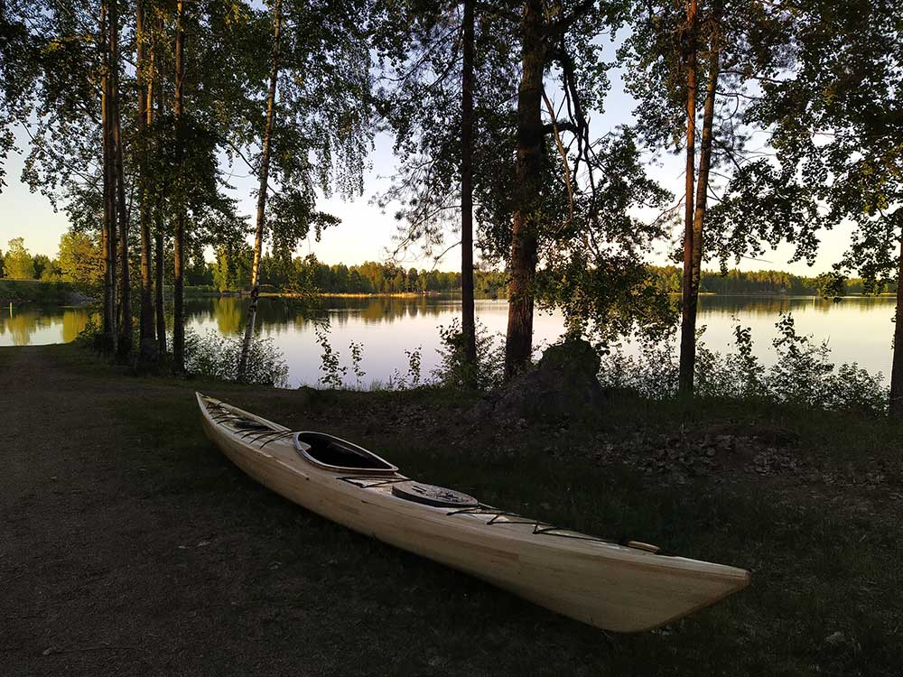 siskiwit bay kayak in the woods