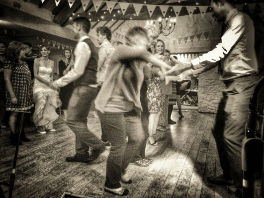 Wedding Barn Dance at Bickley Mill, Devon
