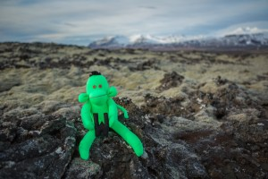 Welshot Monkey in a Lava Field