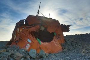 Boat remains at Grindavik