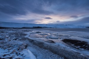 Frozen lake, Kleifarvatn