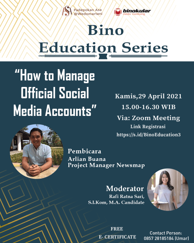 Bino Education Series: How to Manage Official Social Media Accounts