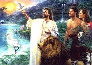 Adam, Eva i Isus u edemskom vrtu