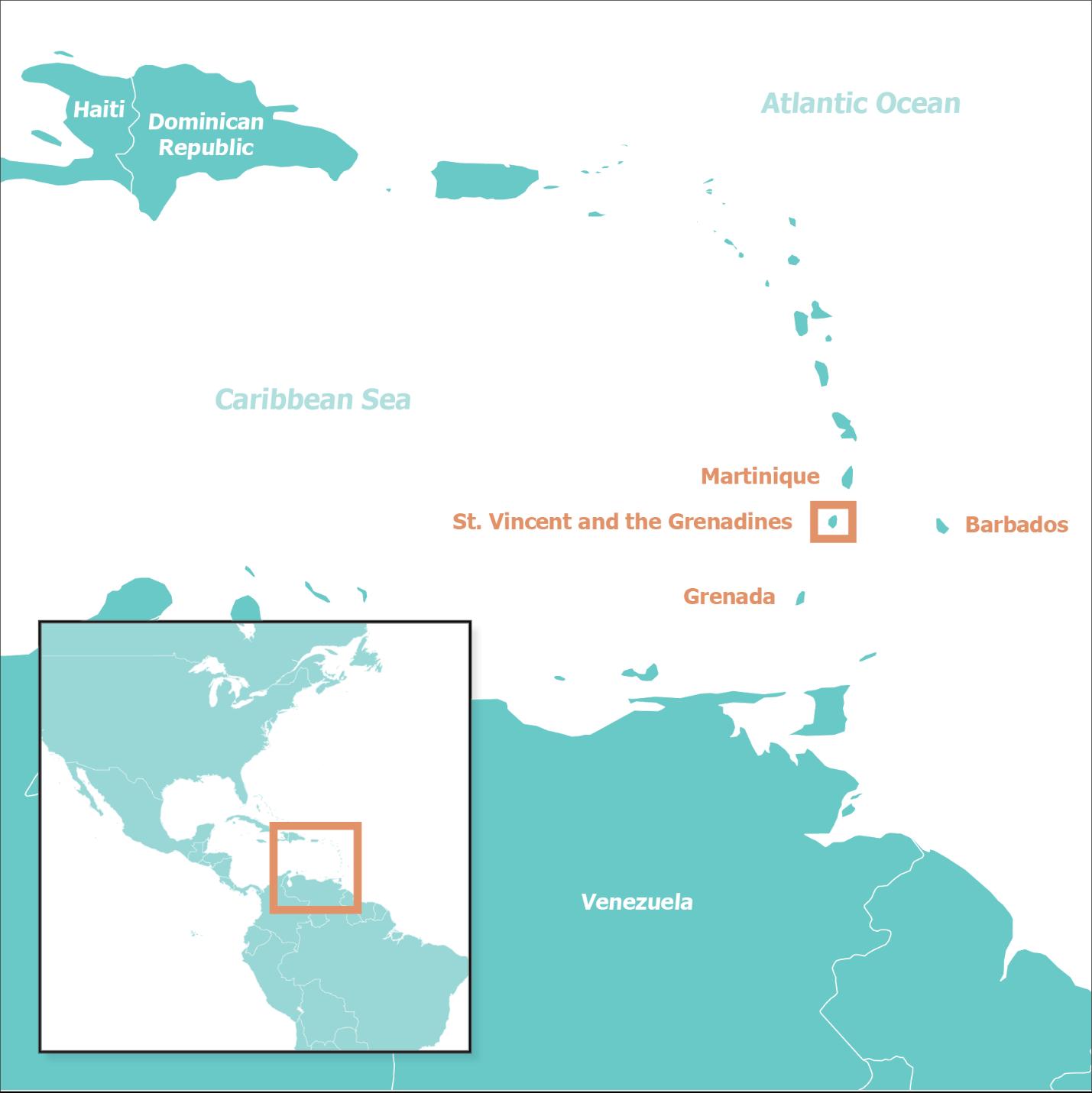 Map St. Vincent
