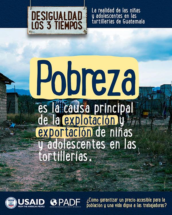Pobreza es la causa principal de la esplotación y exportación de niñas y adolescentes en las tortillerias