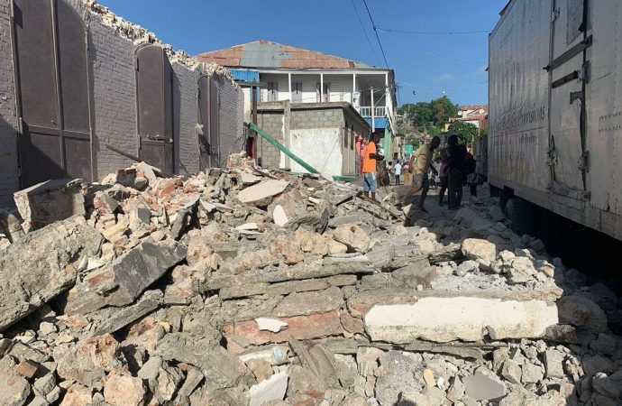 Many homes and structures collapsed.