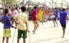 আত্রাইয়ে ঐতিহ্যবাহী লাঠি, ঢেঁকি খেলা