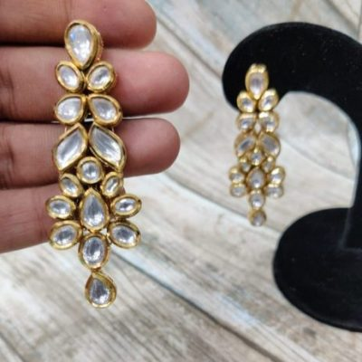 KUNDAN LIGHT WEIGHT EARRING