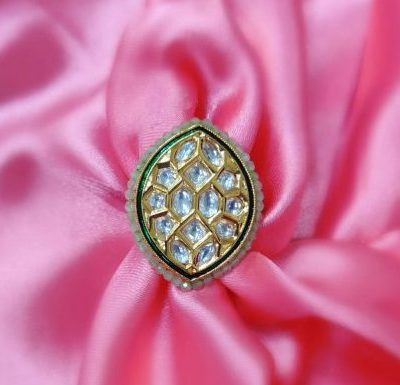 colourful kundan ring