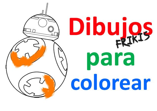 Dibujos para colorear online - Star Wars - BB 8
