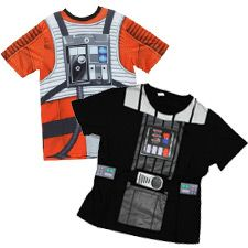 Camisetas infantiles Luke Skywalker y Darth Vader