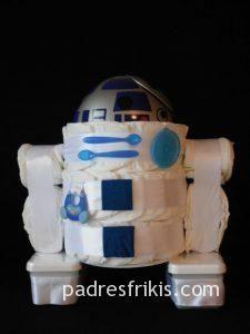 tarta pañales star wars