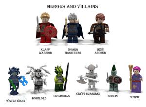 LEGO Quest Builder personajes