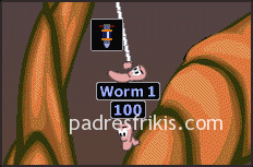 cuerda ninja Worms